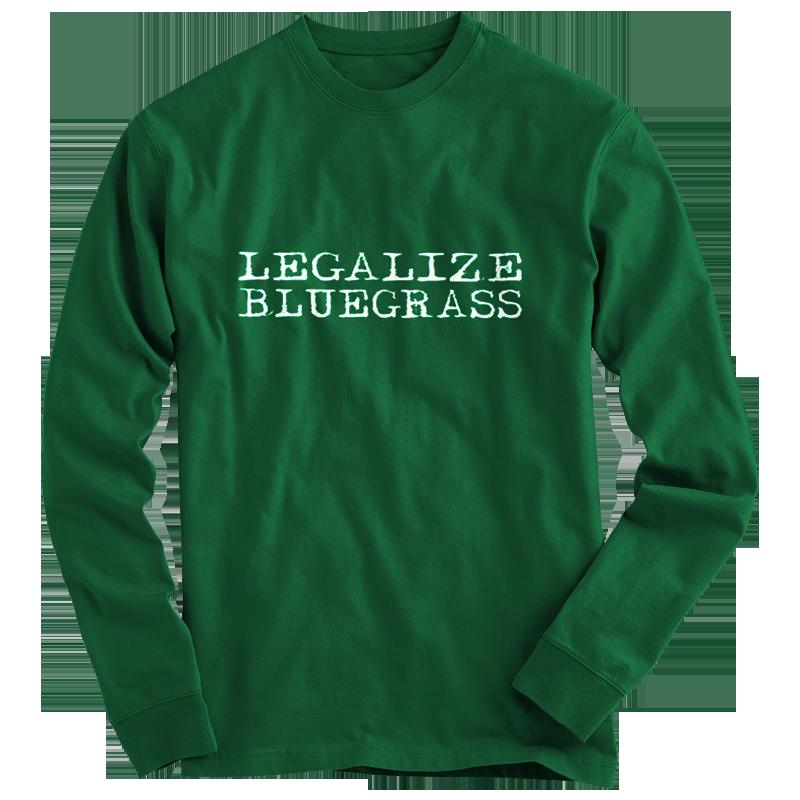 Legalize Bluegrass T Shirt Long Sleeve Leeway S Home