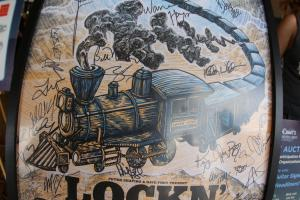 A picture of a Lockn' Festival poster signed by many of the artists