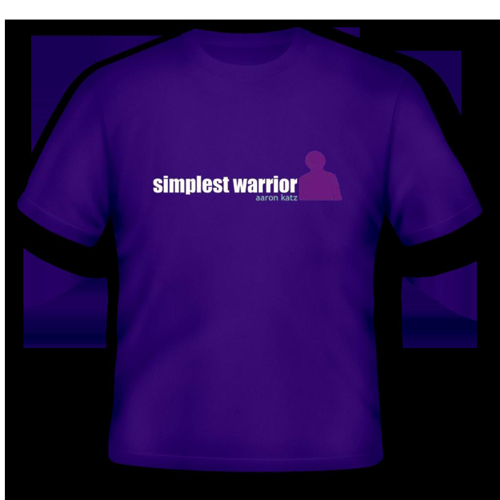 Aaron Katz Simplest Warrior T Shirt Leeway S Home