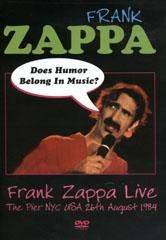 Frank Zappa Does Humor Belong In Music Dvd Leeway S