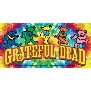 Greatful Dead Dancing Bears On Tie Dye Sticker Leeway S